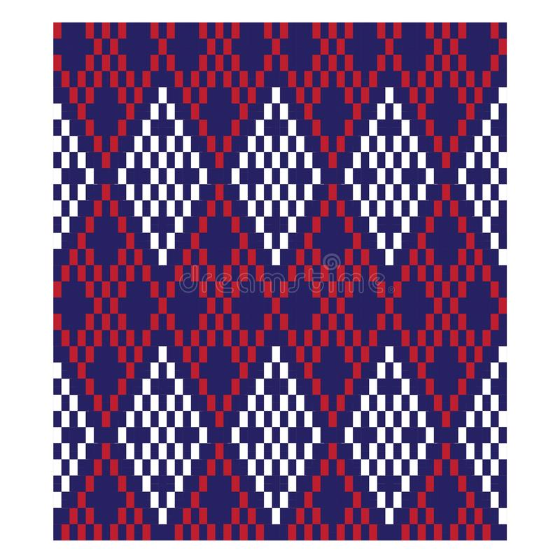 Colourful Classic Modern Argyle Seamless Print Pattern stock illustration