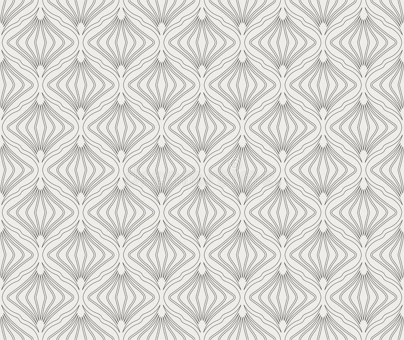 Abstract Seamless Art Deco Pattern. Stylish antique background. Classic Art Deco Seamless Pattern. Geometric Stylish Texture. Abstract Retro Vector Texture stock illustration