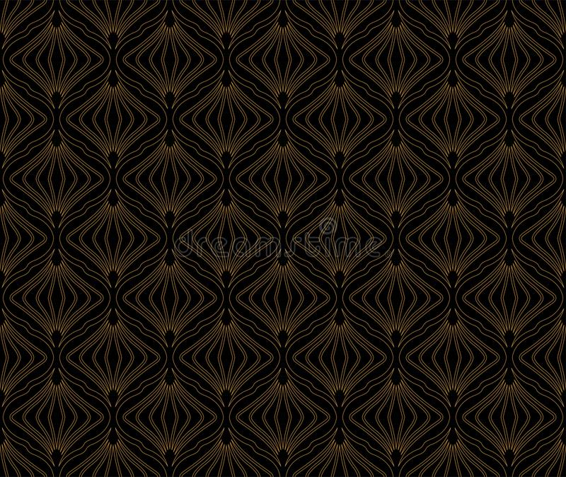 Abstract Seamless Art Deco Pattern. Stylish antique background. Classic Art Deco Seamless Pattern. Geometric Stylish Texture. Abstract Retro Vector Texture vector illustration