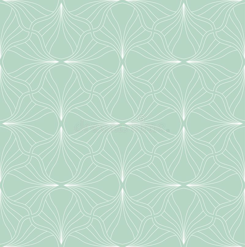 Abstract Seamless Art Deco Pattern. Stylish antique background. Classic Art Deco Seamless Pattern. Geometric Stylish Texture. Abstract Retro Vector Texture royalty free illustration