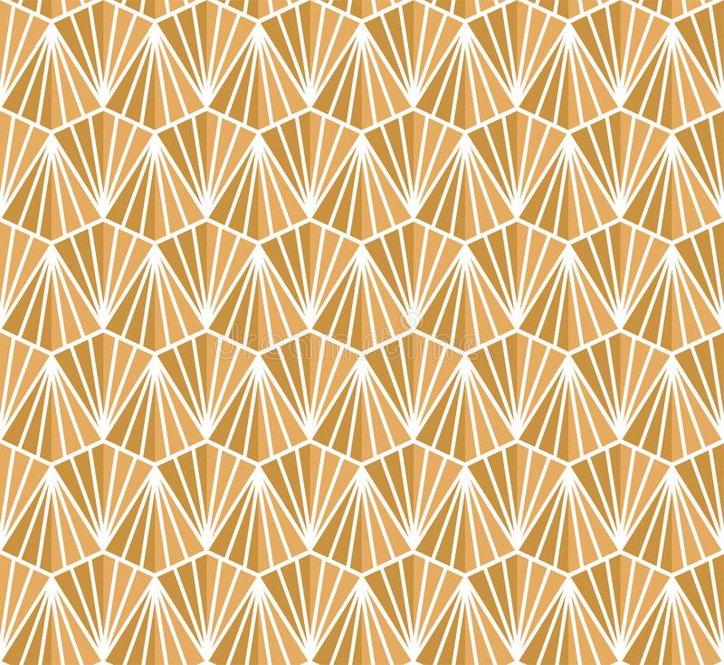 Vector abstract seamless pattern. Geometric classical background. Retro stylish texture. Classic Art Deco Seamless Pattern. Geometric Stylish Texture. Abstract royalty free illustration