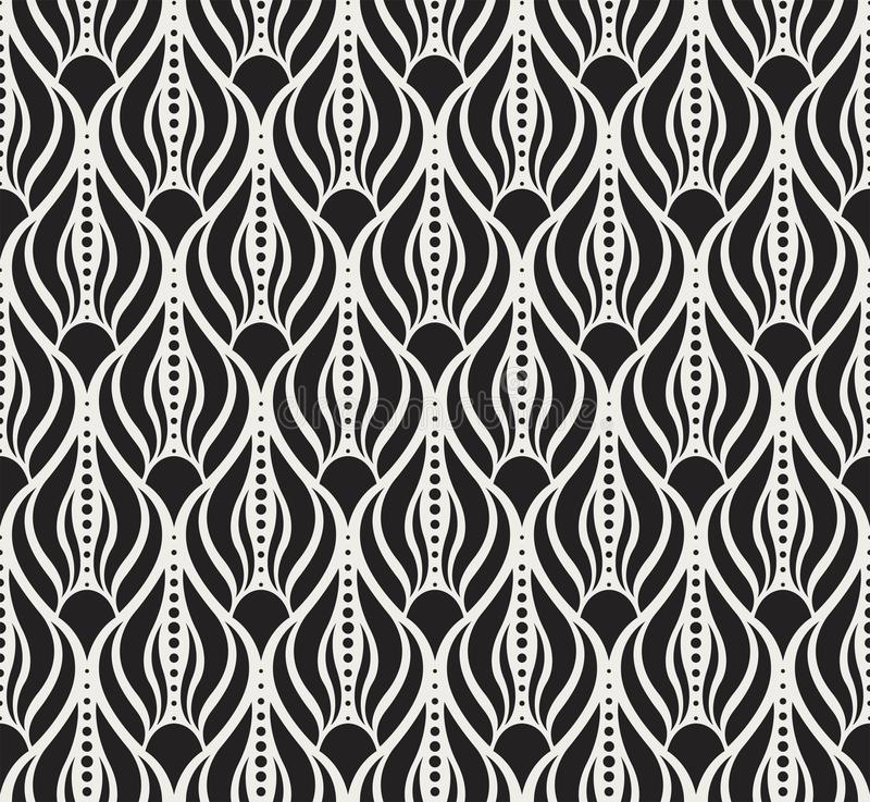 Classic Art Deco Seamless Pattern. Geometric Stylish Texture. Abstract Retro Vector Texture. Vector Classic Floral art nouveau Seamless pattern. Stylish royalty free illustration