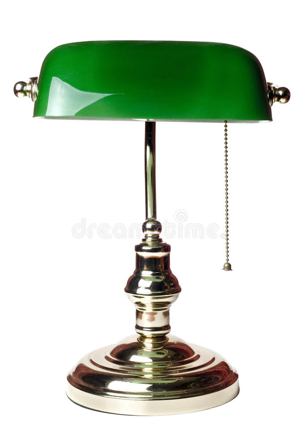Classic bankers lamp royalty free stock photography