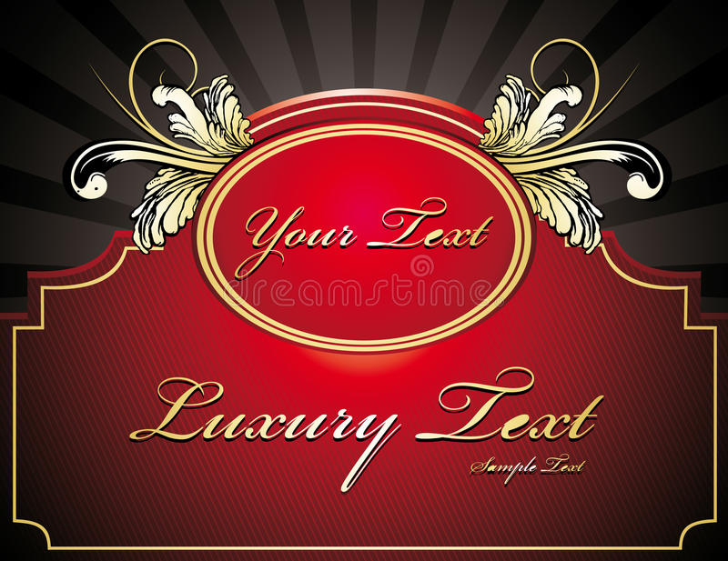 Classic Banner Vector Royalty Free Stock Images