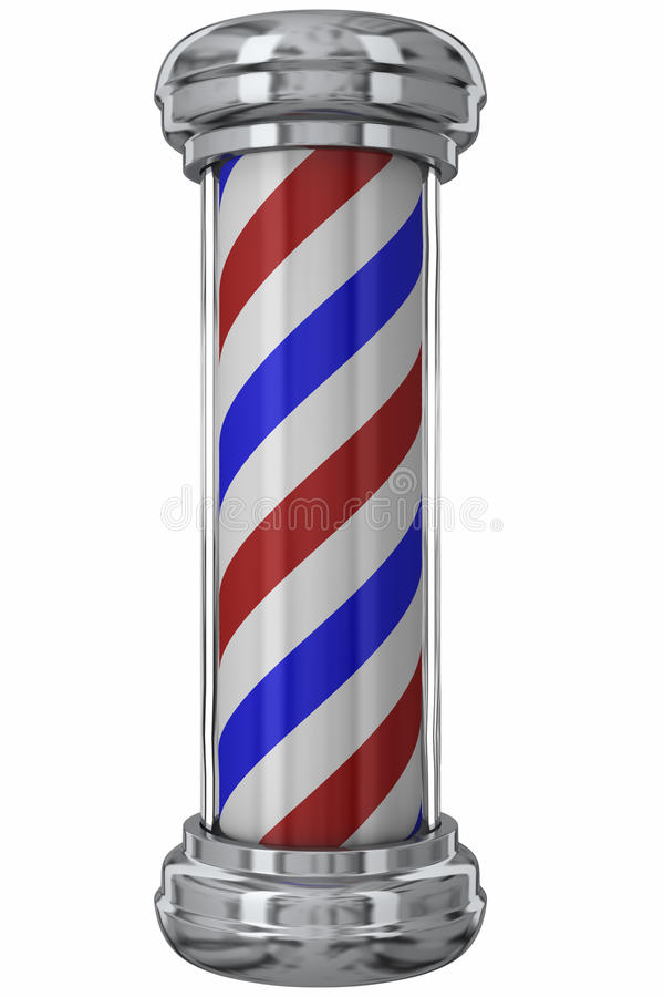 Free Classic Barber Pole Royalty Free Stock Images - 11098399