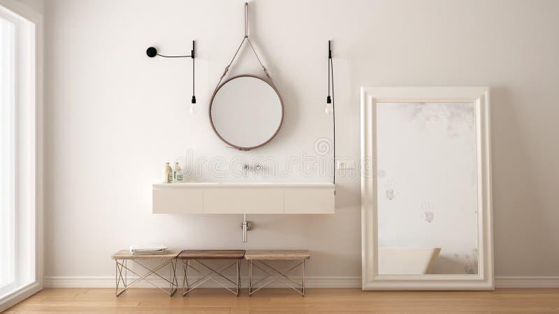 Classic bathroom, modern minimalistic interior design royalty free stock photo