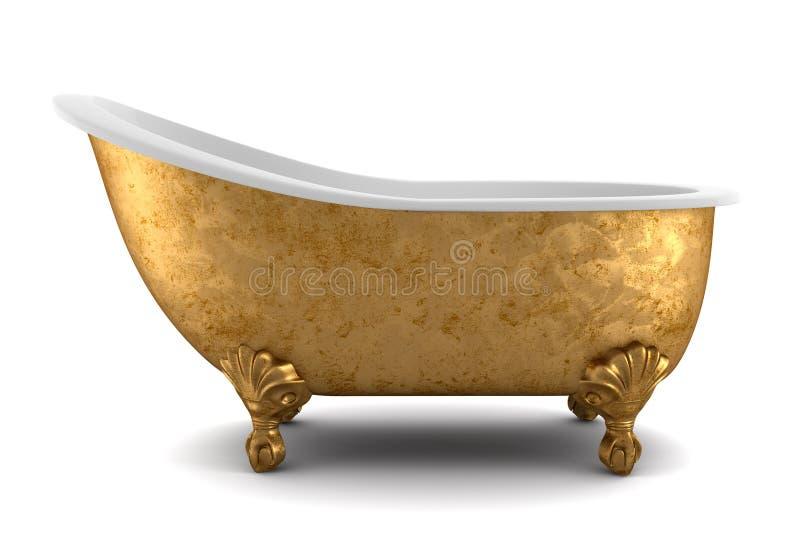 Classic bathtub isolated on white background royalty free illustration