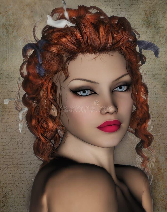 Classic beauty Portrait royalty free stock photos