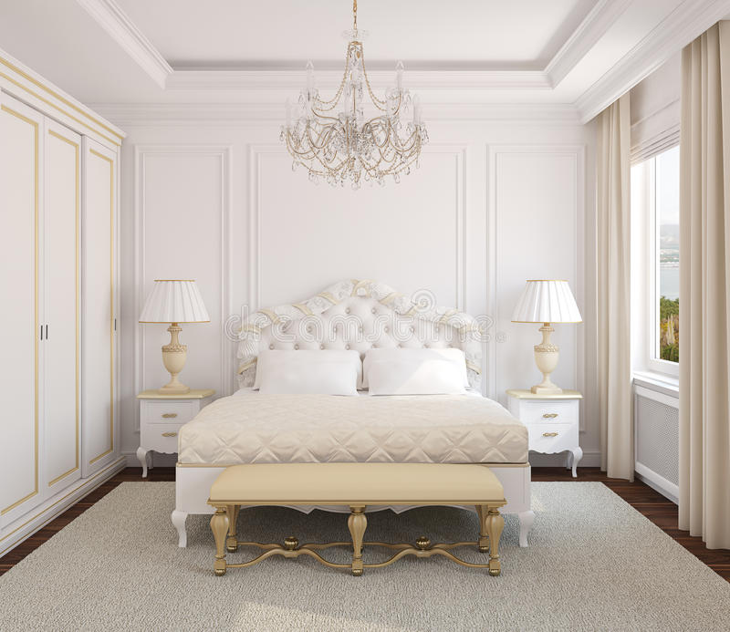 Classic bedroom interior royalty free stock photo image - White heart bedroom furniture ...