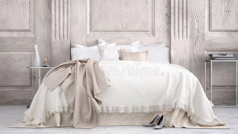 Classic bedroom stock photos