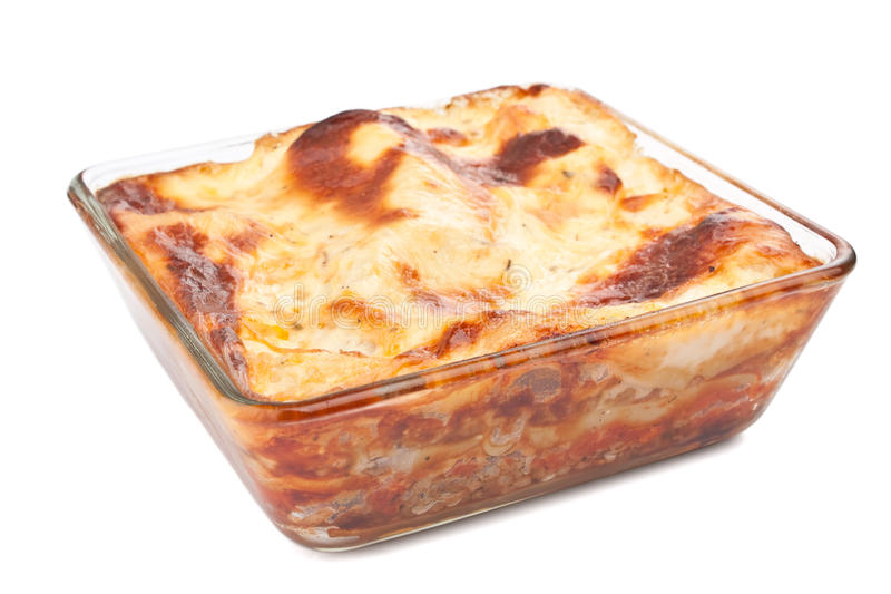 Classic Beef Lasagna royalty free stock photography