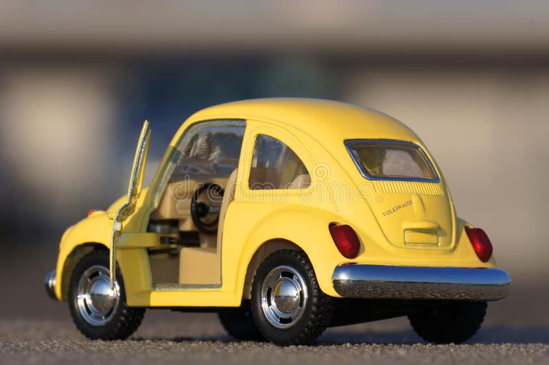 Classic beetle miniature stock images