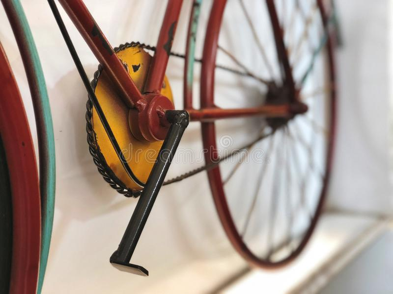 Classic Bicycle for home decoration , vintage style, Natural light. Background of vintage royalty free stock images