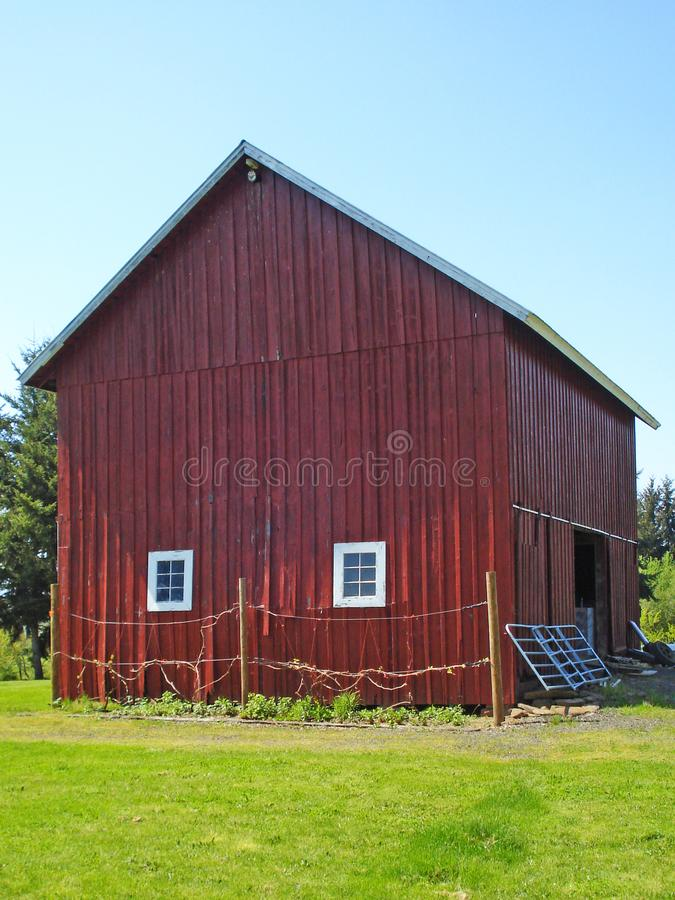 Classic Big Red Barn stock images