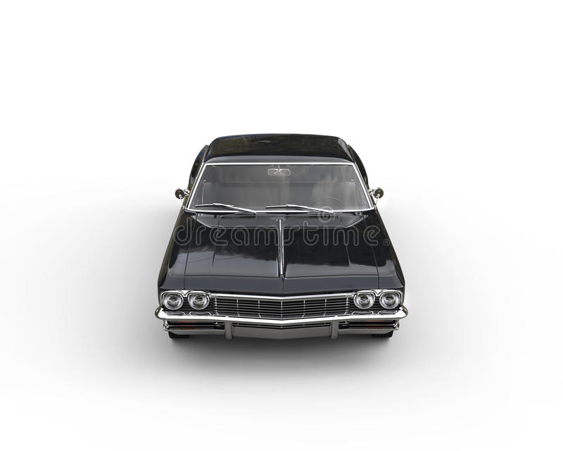 Download Classic Black Car - Studio Shot - Top Front View Stock Photo - Image of front, design: 66971428