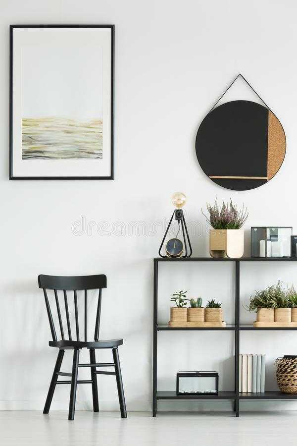 Classic chair in bright room stock images