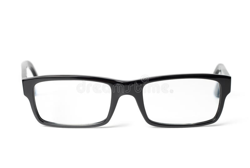 Download Classic Black Eye Glasses Front Stock Photo - Image of glasses, view: 25790760