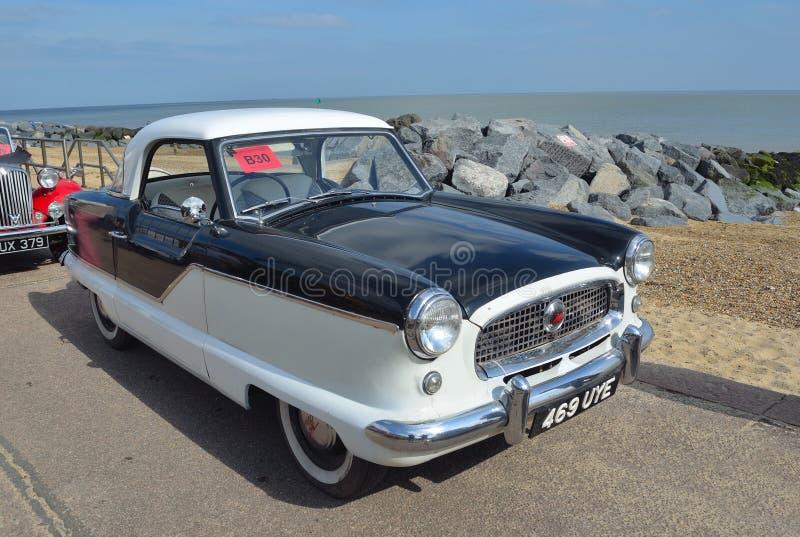 Classic Black and White Nash Metropolitan Motor Car royalty free stock photo