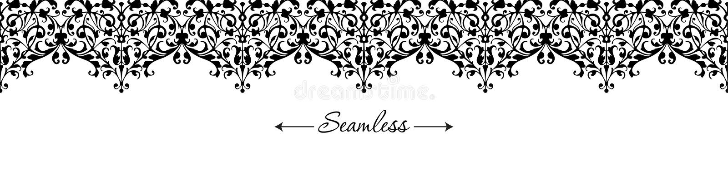 Classic black and white wedding invitation for print design. Decorative retro border, banner. royalty free illustration