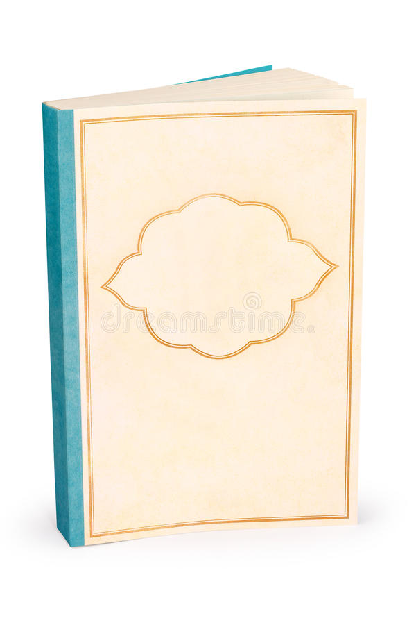 Classic blank book cover - clipping path royalty free stock photography