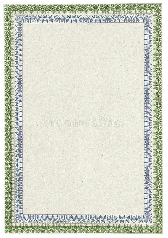 Download Classic Blank Diploma Or Certificate With Border Stock Illustration - Image: 13032091