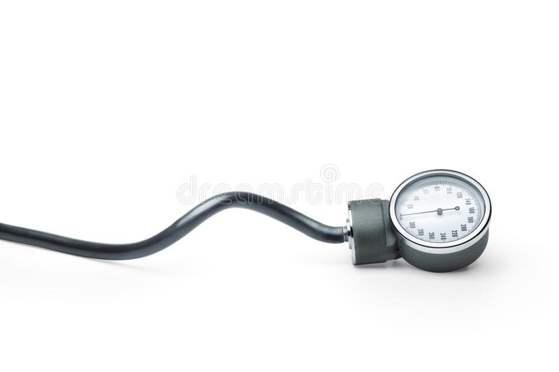 Classic blood pressure measure instrument stock photography
