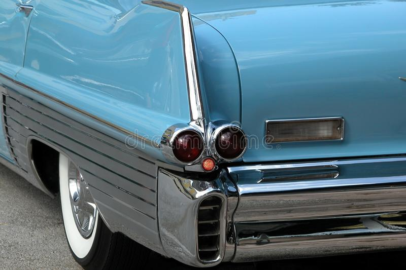 Download Classic Blue 50s Cadillac stock photo. Image of restoration - 18879602