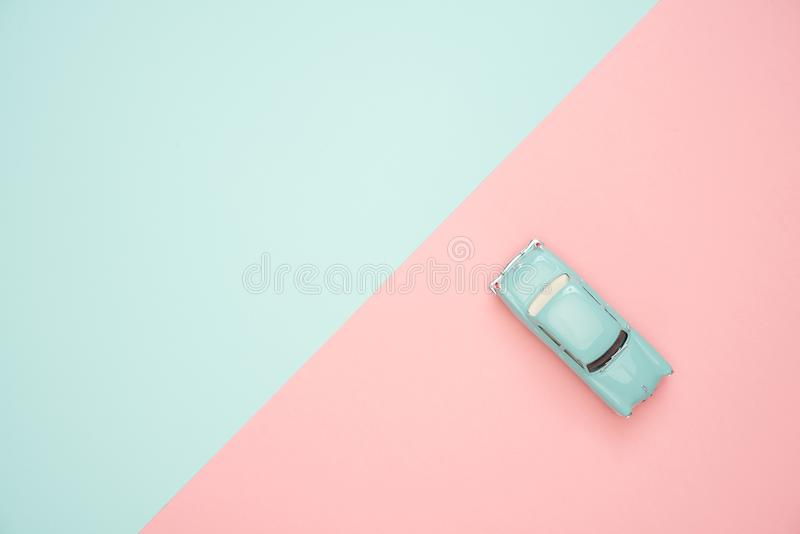 Classic Blue Coupe Die-cast Model royalty free stock images