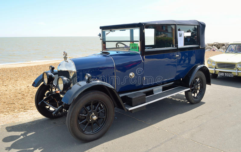 Classic Blue Morris Oxford motor car royalty free stock image