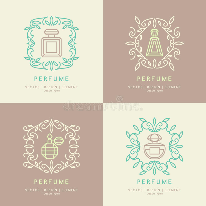 Classic bottle of perfume. vector illustration