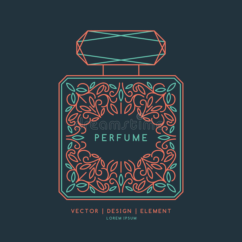 Classic bottle of perfume. royalty free illustration
