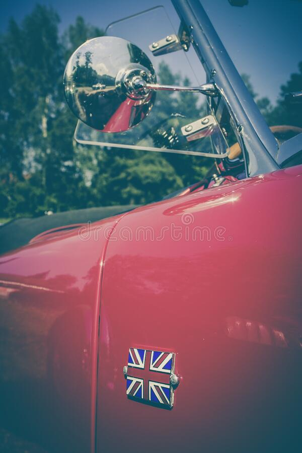 Classic British automobile stock photography