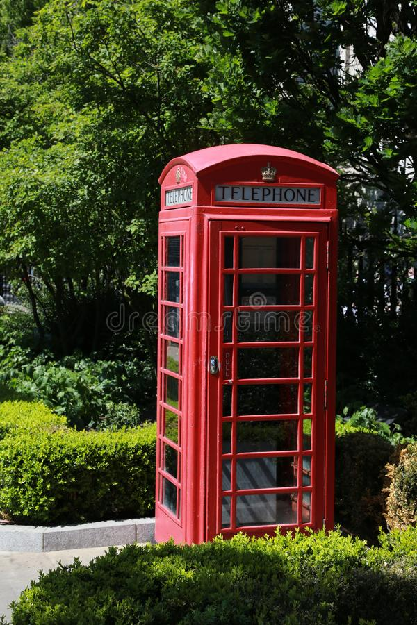 Classic red phone booth stock images