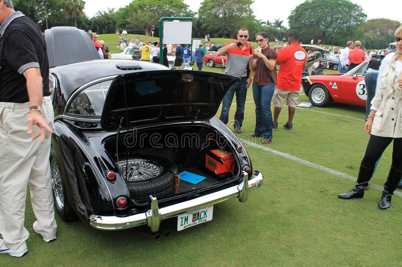 Classic british sports car trunk stock photography