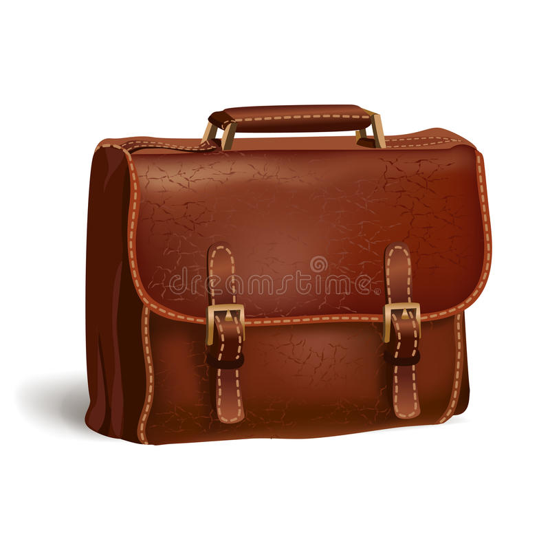 Download Classic Brown Leather Briefcase Stock Vector - Image: 39488163