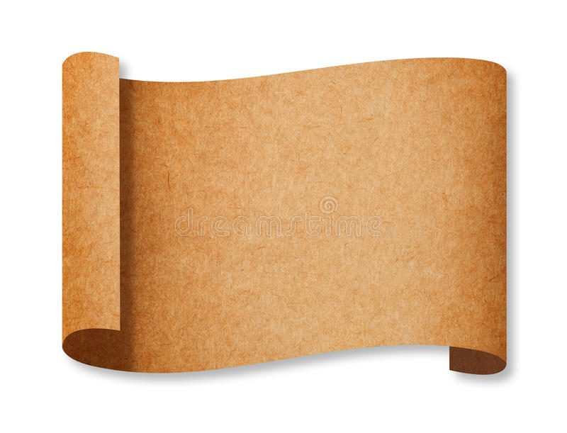 Download Classic Brown Recycle Paper Curl Stock Illustration - Illustration: 19820910