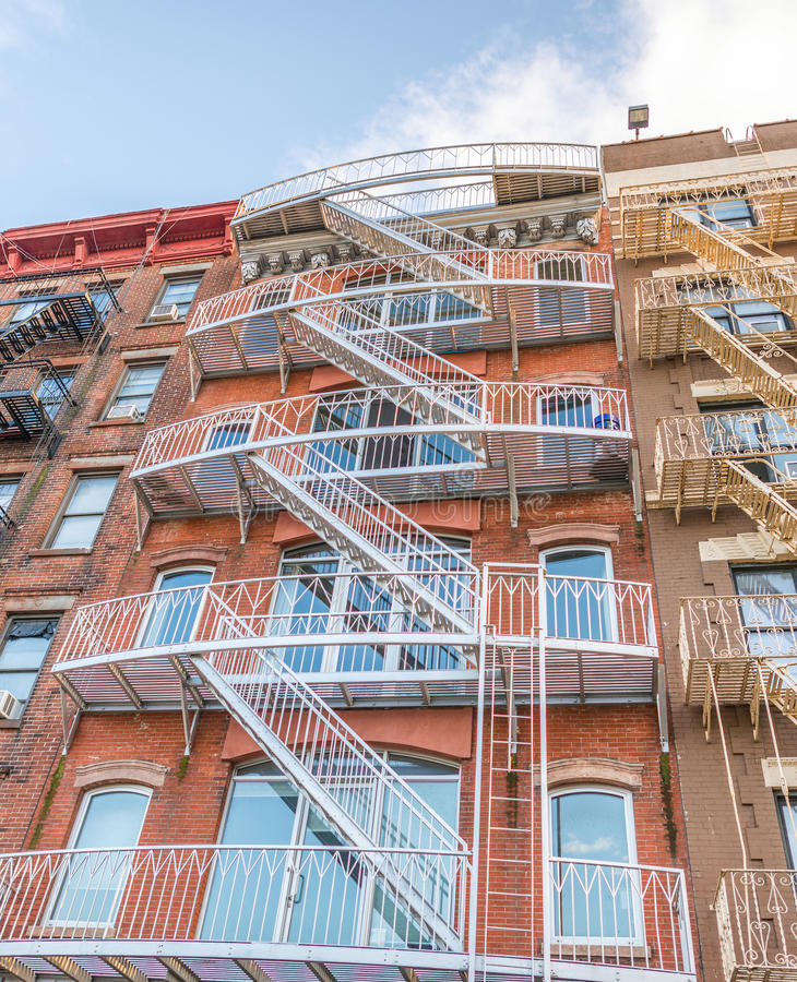 Row Of Brooklyn Apartments Stock Image. Image Of Building