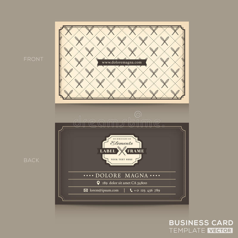 Classic business card design template stock vector illustration of download classic business card design template stock vector illustration of restaurant illustration 48464537 colourmoves