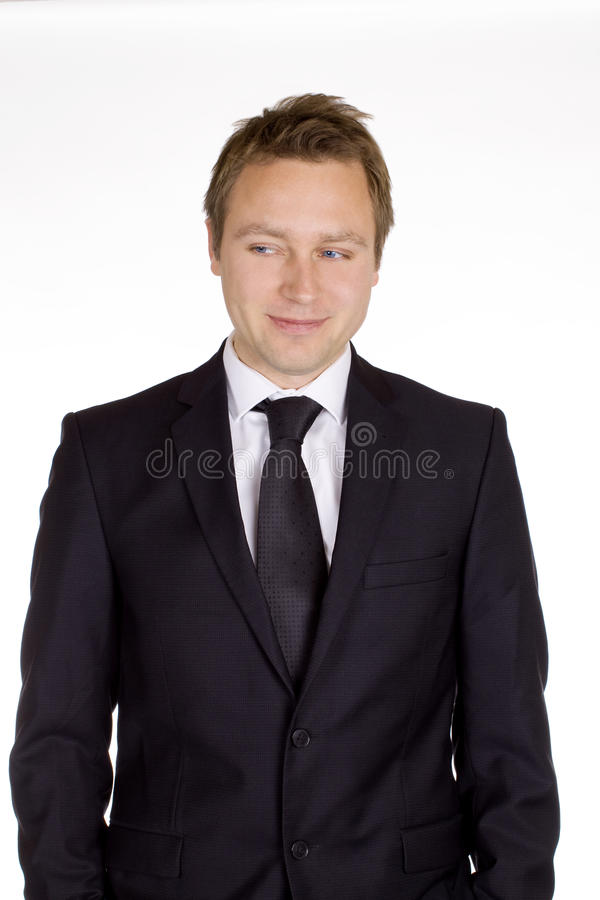 Classic business man stock photo