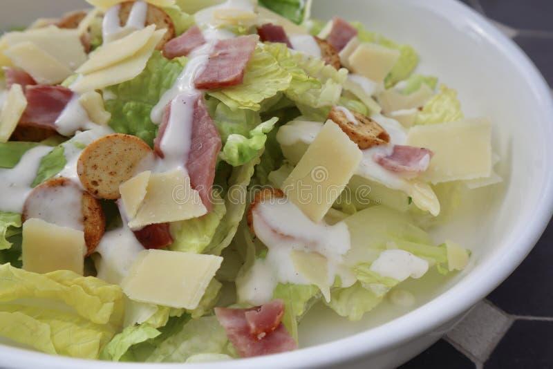 Classic Caesar Salad Bowl stock photo