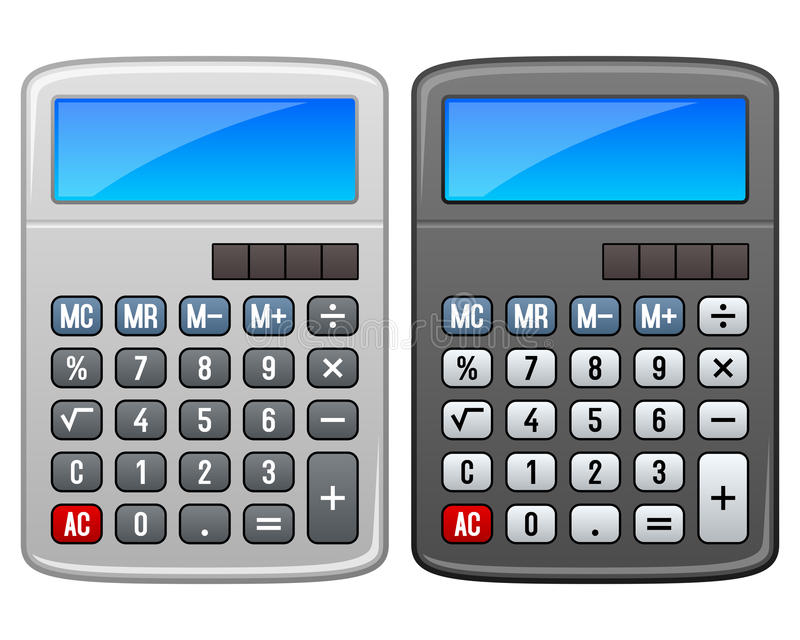 Classic Calculator royalty free illustration