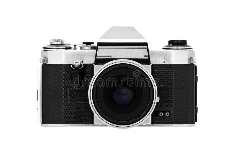 Classic Camera On White Royalty Free Stock Photography