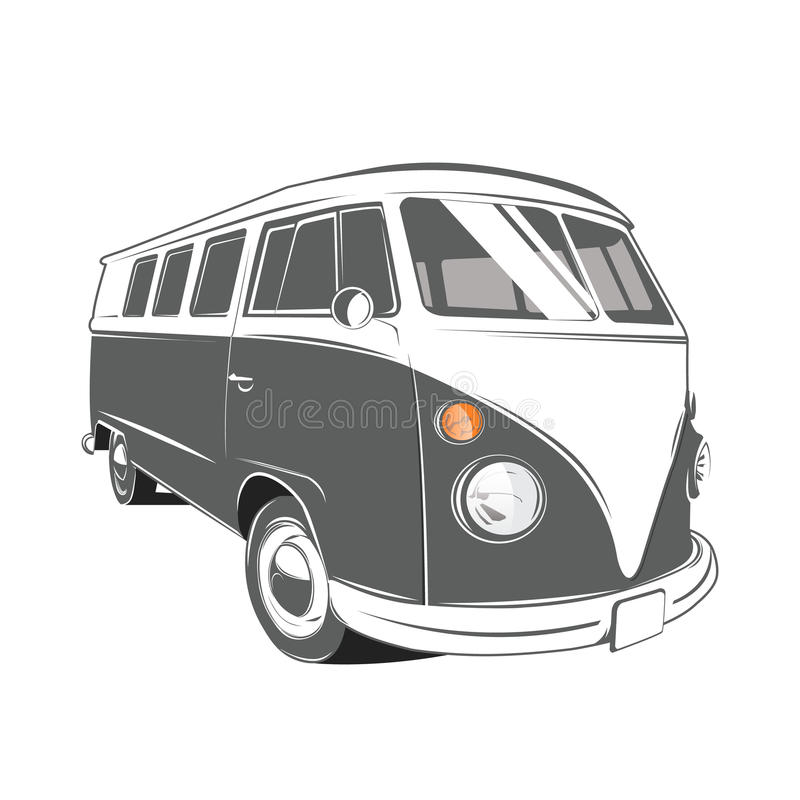 Free Classic Camper Van Royalty Free Stock Photography - 57909097