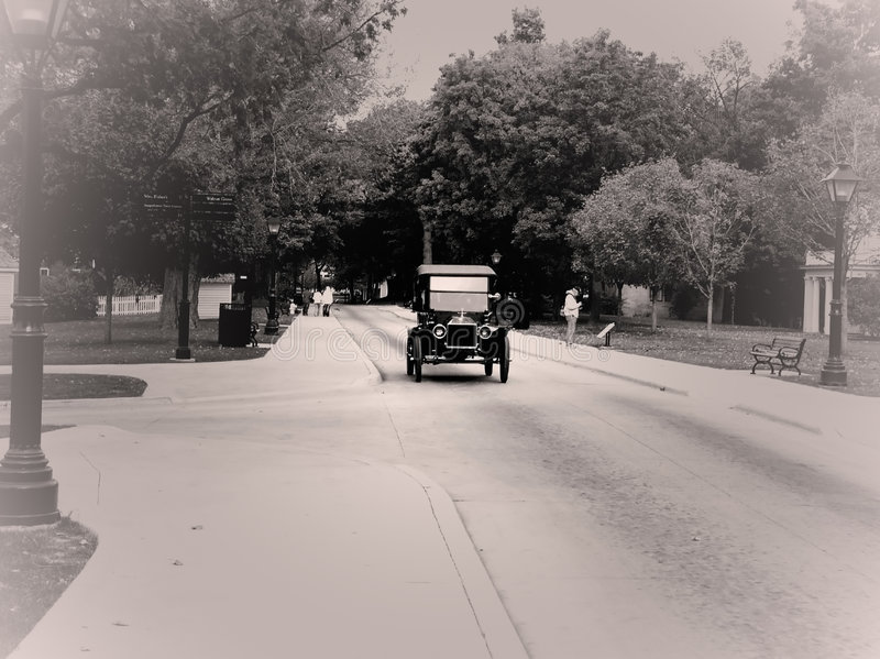 Classic car. In greenfield village stock image