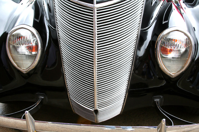 Classic car. Black classic car on woodward dream cruise show royalty free stock photography