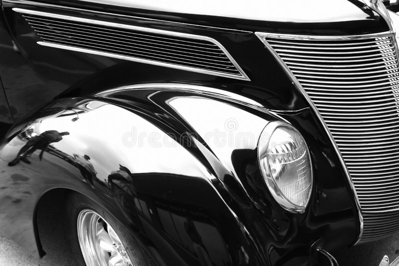 Classic car. Black classic car on woodward dream cruise show royalty free stock image