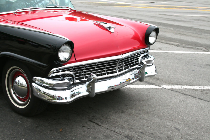 Classic car. Black and red classic car on woodward dream cruise show royalty free stock photo