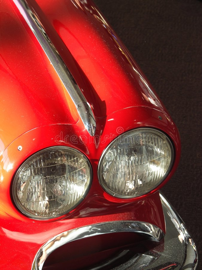 Classic Car. Detail with dark background royalty free stock images