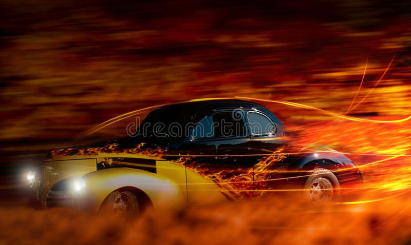 Download Classic car stock photo. Image of sport, movement, flames - 23056718