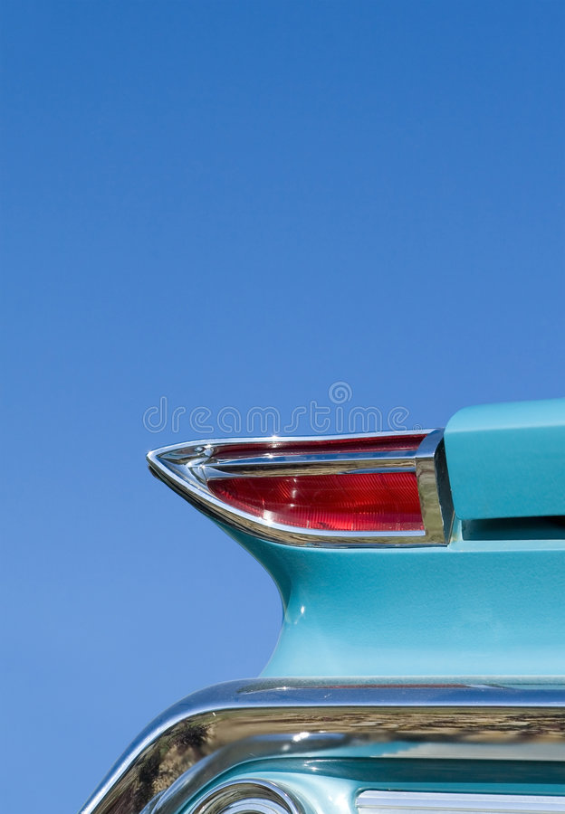 Classic Car. Detail view of tail light on classic car stock image